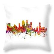 Brisbane Australia Cityscape 08 Throw Pillow