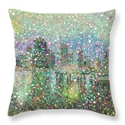Brisbane Connected City Throw Pillow