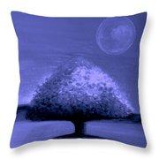 Brisk Silver Moon Throw Pillow