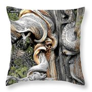Bristlecone Pine - 'i Am Not Part Of History - History Is Part Of Me' Throw Pillow