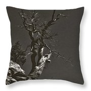 Bristlecone Pine In Black And White Throw Pillow