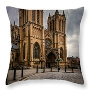 Bristol Cathedral Throw Pillow