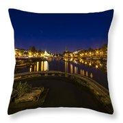 Bristol Docks By Night  Throw Pillow