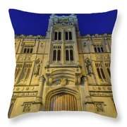 Bristol Guildhall By Night Throw Pillow
