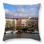 Bristol Harbour Appartments Throw Pillow