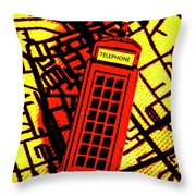 Brit Phone Box Throw Pillow