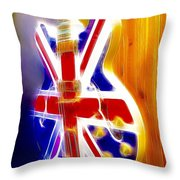 Brit Vibe Throw Pillow