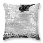 British Airship, 1919 Throw Pillow