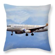 British Airways Airbus A319-131 Throw Pillow