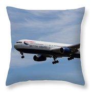 British Airways Boeing 767 Throw Pillow