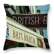 British Bar Britanica  Throw Pillow