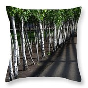 British Birch Throw Pillow