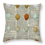 British Birds Eggs Throw Pillow