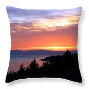 British Columbia Sunset Throw Pillow