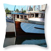 British Columbia Trollers Throw Pillow