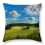British Countryside Throw Pillow