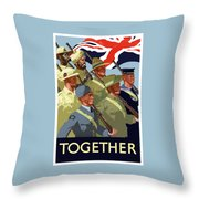 British Empire Soldiers Together Throw Pillow
