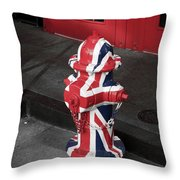British Fire Hydrant Throw Pillow