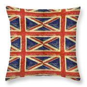 British Flag Collage One Throw Pillow