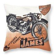 British James Comet Motorcycle  1948 Throw Pillow