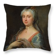 British Lady Mary Wortley Montagu Throw Pillow