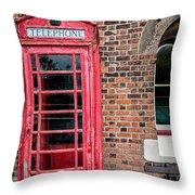 British Phone Box Throw Pillow