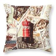 British Post Box Throw Pillow