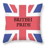 British Pride Throw Pillow