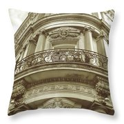 British Relief Throw Pillow