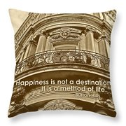 British Relief Quote Throw Pillow