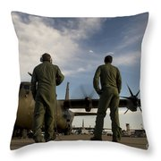 British Royal Air Force C-130j Throw Pillow