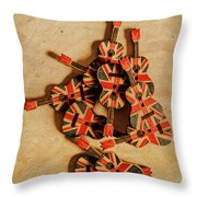 British Sound Stage Throw Pillow