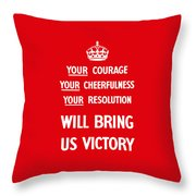 British Ww2 Propaganda Throw Pillow by War Is Hell Store