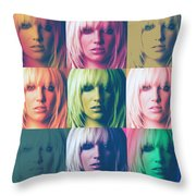 Britney Spears Pastel Warhol By Gbs Throw Pillow