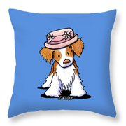 Brittany Girl Throw Pillow