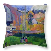 Brittany Landscape Throw Pillow