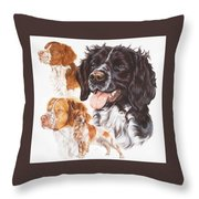 Brittany Spaniel Throw Pillow