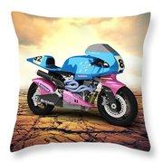 Britten V1000 1995 Desert Throw Pillow