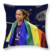 Brittney Griner Lgbt Pride 4 Throw Pillow