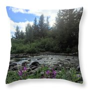 Somewhere Over The Mountains 2 Throw Pillow