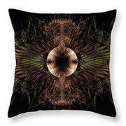 Broach Of Dried Leaves / Warm  Throw Pillow
