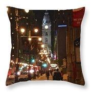 Broad Street Throw Pillow