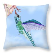 Broadbilled Hummer Throw Pillow