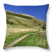 Broadlee-bank Tor From The Pennine Way Throw Pillow