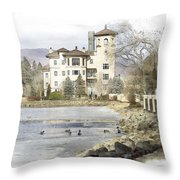 Broadmoor Hotel Throw Pillow