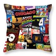 Broadway 3 Throw Pillow