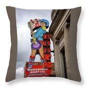 Broadway Boots - Nashville Tn Throw Pillow