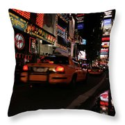 Broadway Lights Throw Pillow