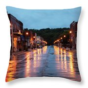 Broadway St. Excelsior Springs, Mo Throw Pillow
