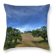 Broccoli Trees Throw Pillow